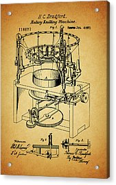 1871 Rotary Knitting Machine Acrylic Print by Dan Sproul