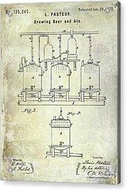 1873 Beer Patent Acrylic Print by Jon Neidert