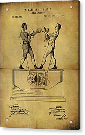1876 Boxing Toy Patent Acrylic Print by Dan Sproul