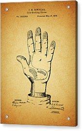 1878 Corn Husking Glove Patent Acrylic Print