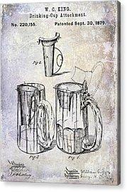 1879 Beer Mug Patent Acrylic Print