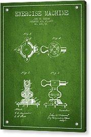 1879 Exercise Machine Patent Spbb08_pg Acrylic Print