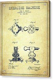 1879 Exercise Machine Patent Spbb08_vn Acrylic Print