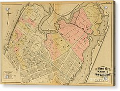 Acrylic Print featuring the photograph 1879 Inwood Map  by Cole Thompson