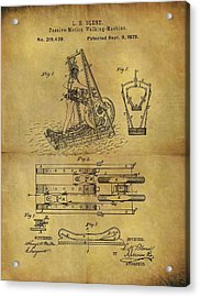 1879 Treadmill Patent  Acrylic Print by Dan Sproul