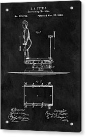 1880 Exercise Apparatus Patent Illustration Acrylic Print by Dan Sproul