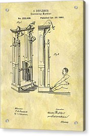 1880 Exercising Machine Patent Acrylic Print by Dan Sproul