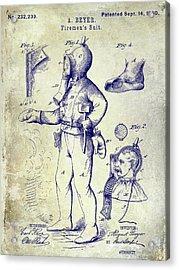 1880 Fireman Suite Patent Acrylic Print by Jon Neidert