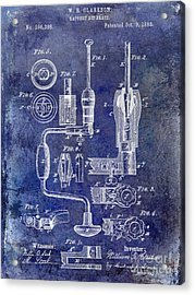 1883 Drill Patent Blue Acrylic Print