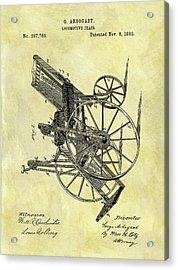1883 Wheelchair Patent Acrylic Print