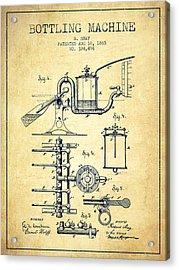 1885 Bottling Machine Patent - Vintage Acrylic Print