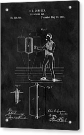 1885 Boxing Bag Patent Acrylic Print by Dan Sproul