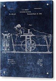 1885 Exercise Machine Patent Acrylic Print