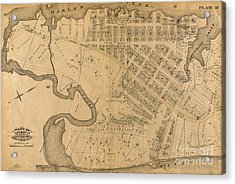 Acrylic Print featuring the photograph 1885 Inwood Map  by Cole Thompson