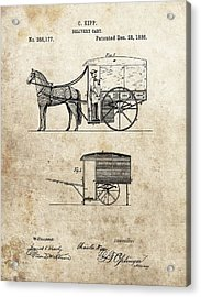 1886 Delivery Cart Patent Acrylic Print by Dan Sproul