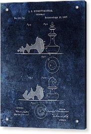 1887 Chessman Patent Acrylic Print by Dan Sproul
