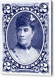 1890 Hawaiian Queen Liliuokalani Stamp Acrylic Print