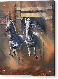 1890's First Responders Acrylic Print by Mia DeLode