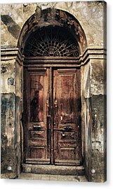 1891 Door Cyprus Acrylic Print by Stelios Kleanthous