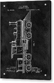 1891 Locomotive Engine Patent Acrylic Print by Dan Sproul