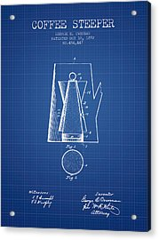 1892 Coffee Steeper Patent - Blueprint Acrylic Print