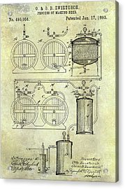 1893 Beer Making Patent Acrylic Print