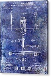 1893 Street Railway Signal Patent Blue Acrylic Print