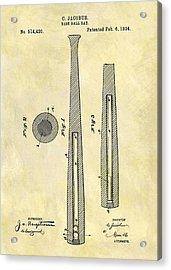 1894 Baseball Bat Patent Acrylic Print