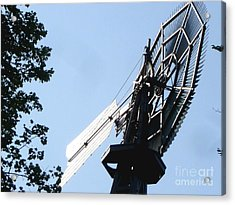 Acrylic Print featuring the photograph 1894 Bronson Windmill Gears by Margie Avellino