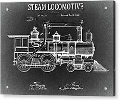 1894 Steam Locomotive Blueprint Acrylic Print by Dan Sproul