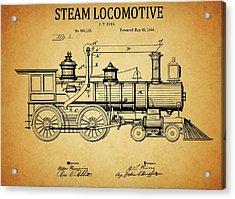 1894 Steam Locomotive Patent Acrylic Print by Dan Sproul