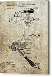 1895 Cork Extractor Patent Acrylic Print