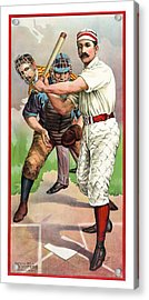 1895 In The Batters Box Acrylic Print by Daniel Hagerman