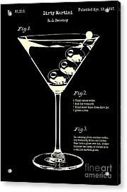 1897 Dirty Martini Patent Acrylic Print by Jon Neidert