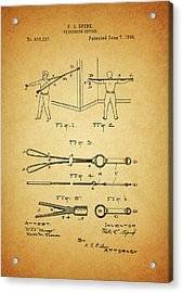 1898 Exercising Device Patent Illustration Acrylic Print by Dan Sproul