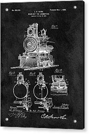 1898 Locomotive Headlight Patent Acrylic Print by Dan Sproul