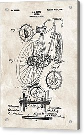 1899 Bicycle Patent Acrylic Print