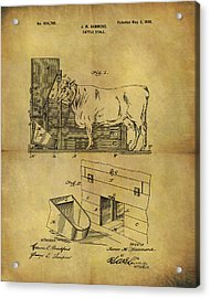 1899 Cattle Stall Patent Acrylic Print by Dan Sproul