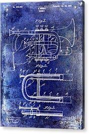 1899 Cornet Patent Blue Acrylic Print by Jon Neidert