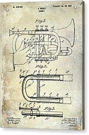 1899 Cornet Patent Acrylic Print by Jon Neidert