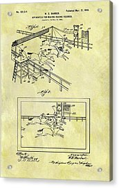 1899 Horse Racing Track Patent Acrylic Print by Dan Sproul