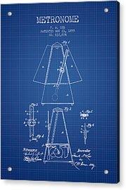 1899 Metronome Patent - Blueprint Acrylic Print