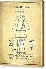 1899 Metronome Patent - Vintage Acrylic Print