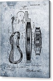 1899 Violin Blue Patent Acrylic Print by Dan Sproul