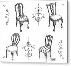 18th Century English Chairs Acrylic Print by Adam Zebediah Joseph