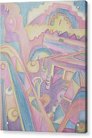 18th Century Greek Church Abstract Acrylic Print by Suzanne  Marie Leclair