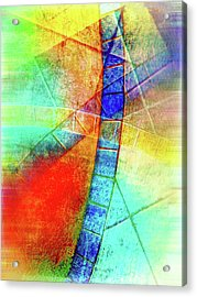 Digital Abstract Painting Acrylic Print by Tom Gowanlock