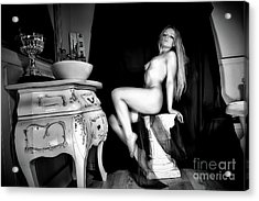 Mary, Erotic Art Photography By Frank Falcon Acrylic Print
