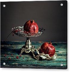 Pomegranate Acrylic Print by Nailia Schwarz