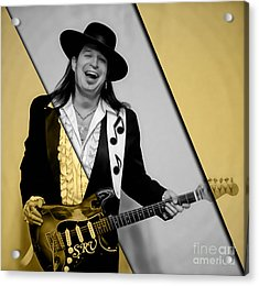 Stevie Ray Vaughan Collection Acrylic Print by Marvin Blaine